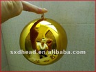 "With hoop 5"" brass sphere"