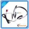 Computer Headphone With Microphone Headset Silver