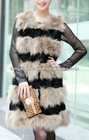 CDV081 2012 new item Most fashion girls rabbit fur vest for spring