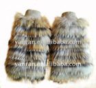 YR-168 Latest style raccoon dog fur leg warmers