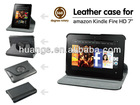 Smart New 360 Rotating PU Leather Case Cover For Amazon Kindle Fire HD 7'Tablet