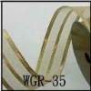 3-stripe gold organza ribbon for celebration