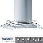 90cm Stainless Steel range hood with curved glass canopy