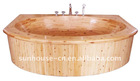 WTC-003A luxurysolid wooden double hydromassage bathtubbathtub