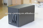 NSC-200P NAS Case Server Chassis w/ 2 Hot-Swappable SATA/SAS Drive Bays (Mini-ITX)