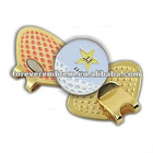 Zinc alloy Golf hat clips with ball marker