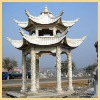100% Hand Carved Stone Pavilion