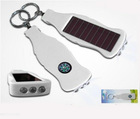 3 led solar torch, keychain with compass wine bottle shape