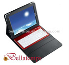 Bluetooth keyboard with leather case for iPad