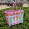 Eco-friendly colorful PE woven bag fashion