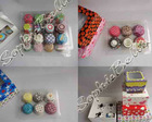 Christmas gift cases paper baking cups cake cups with mixed patterns