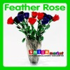 new arrival 24pcs/box assorted colors top quality valentine feather rose