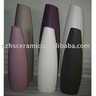 ceramic vase in solid colour glazed