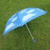 Straight One Layer Blue Sky Umbrella