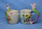 ceramic easter rabbit mugs