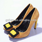 New design high qulaity leather brand high heels shoes