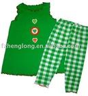 flower girls 2pcs children clothing set/child clothes