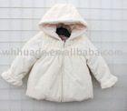 kids winter jacket in pink and white