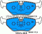 Auto Brake Pad for BMW 34 21 6 750 190 E36 E46