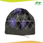 100%cashmere lmen's navy knitted winter hat