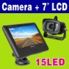 """15 IR LED Wireless Car Rearview Camera +7"""" Color LCD Monitor"""