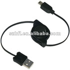 Mini USB Retractable Cable