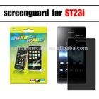 2012 hot sell new arrival clear plastic protection film for sony st23i xperia miro