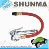 "Tire inflator with gauge, brass bar,12"" rubber hose, SMT5100"
