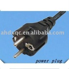 pins &earth european schuko plug power cords