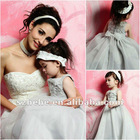 Lovely little girl a-line skirt beautiful organza grey cinderella flower girl dresses