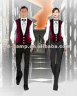 Wholesale waiter and waitress uniform hotel bar service staff wear