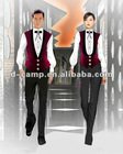 Wholesale waiter and waitress uniform hotel bar service staff wear