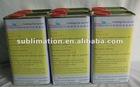 Heat transfer sublimation coating liquid