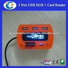 USB Combo 2.0 All in 1 Multiple Card Reader and 3 USB Port