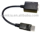 DP to VGA Cable Adapter 15CM W/IC, DP to VGA converter