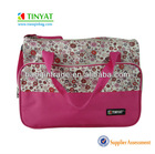Flower pattern baby diaper bag