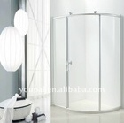 single door shower , frameless shower room parts, transparent bathroom door , Ecomonic shower cabin, glass back pane
