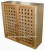 solid wooden wall mounted cabinet,bathroom wall cabinet,living room, walnut,oiled
