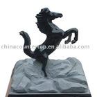 Full Polished Black Horse Shape Sculpture
