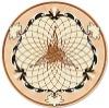 hardwood rosette medallion parquet marquetry