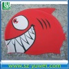 Eco-friendly Silicone Swimming Caps with Red Shark Shape for Kids