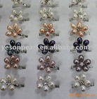high quality fashionable and charmful 6-6.5 mm round flower ring