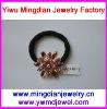 top selling alloy accessory rose rhinestone wholesale hair elastics AP2213-3