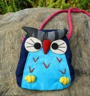cute owl shaped mini handbag coin bag long rope