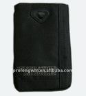 black polyester mobile phone bag