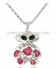 Lovely Bear Sweater Chain Wholesale With Zircon