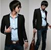 black color gentle business man suit