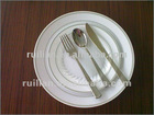 plastic cutlery and plastic plates