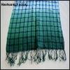 checked linen scarf