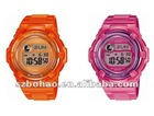lovey jelly silicone el watch for kids